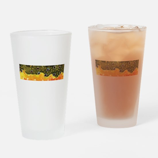 Brook Trout Skin Drinking Glass
