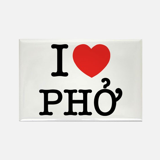 I Love (Heart) Pho Rectangle Magnet