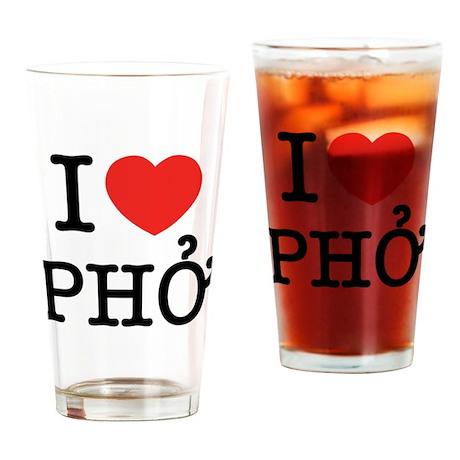 I Love (Heart) Pho Drinking Glass