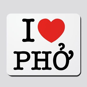 I Love (Heart) Pho Mousepad