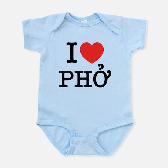I Love (Heart) Pho Infant Bodysuit