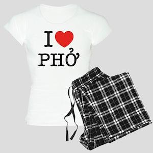 I Love (Heart) Pho Women's Light Pajamas