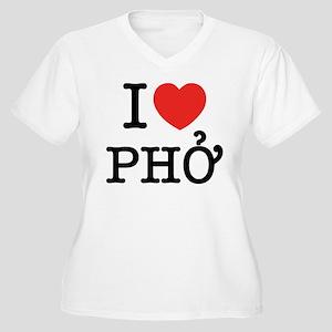 I Love (Heart) Pho Women's Plus Size V-Neck T-Shir