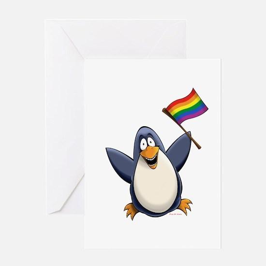 Pride Penguin Greeting Card