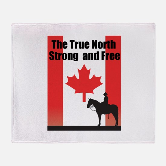 Oh Canada Throw Blanket
