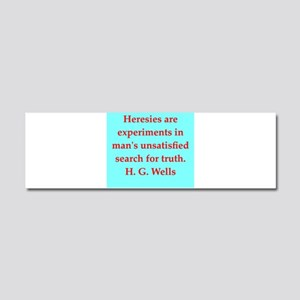 H. G. Wells quotes Car Magnet 10 x 3