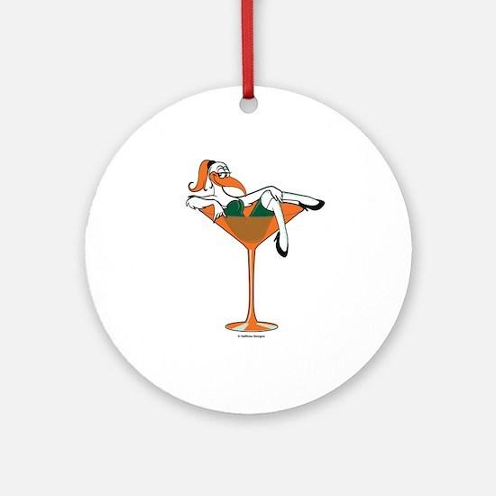 Miami-tini Ornament (Round)