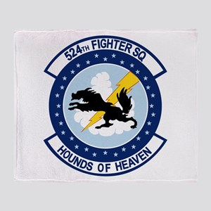 524th Fighter Squadron Throw Blanket