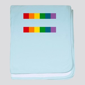 Gay Rights Equal Sign baby blanket