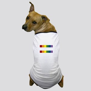 Gay Rights Equal Sign Dog T-Shirt