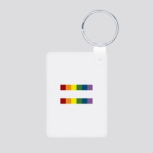 Gay Rights Equal Sign Aluminum Photo Keychain