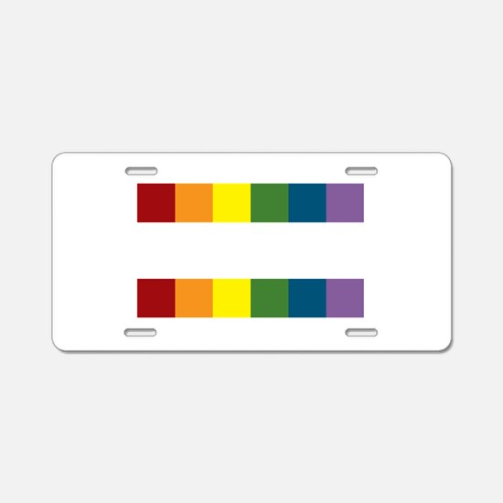Gay Rights Equal Sign Aluminum License Plate