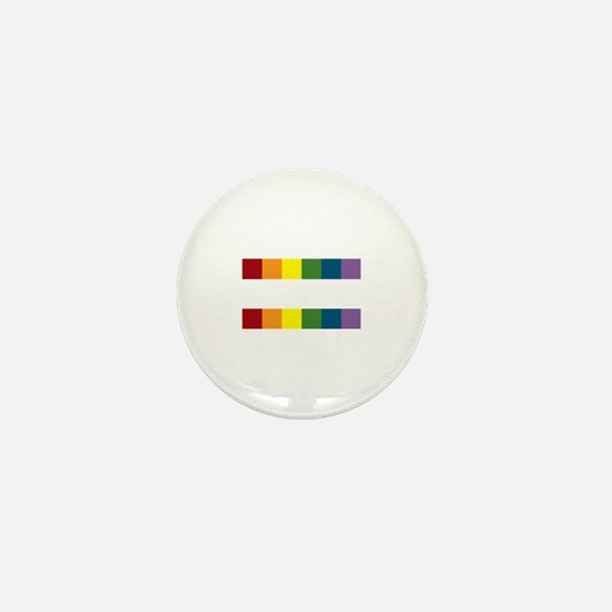 Gay Rights Equal Sign Mini Button