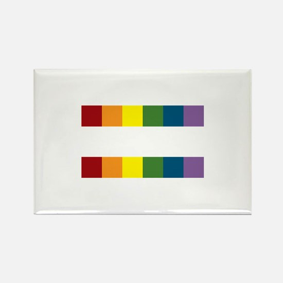 Gay Rights Equal Sign Rectangle Magnet (10 pack)