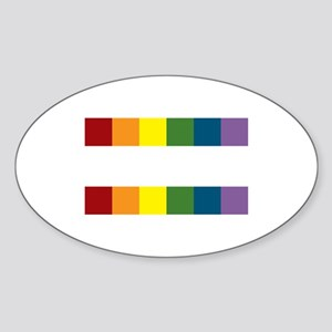 Gay Rights Equal Sign Sticker (Oval)