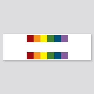 Gay Rights Equal Sign Sticker (Bumper)
