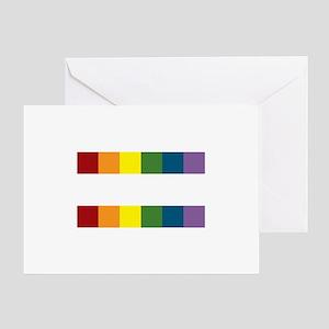 Gay Rights Equal Sign Greeting Card