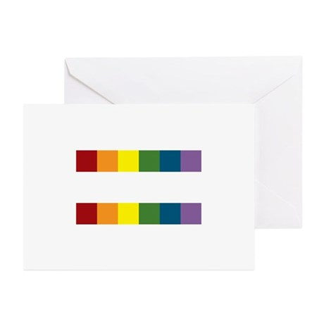 Gay Rights Equal Sign Greeting Cards (Pk of 10)