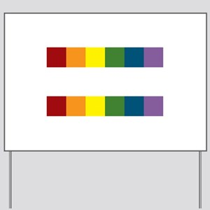 Gay Rights Equal Sign Yard Sign
