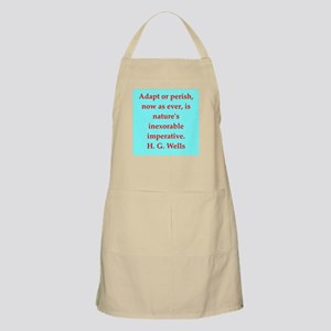 H. G. Wells quotes Apron