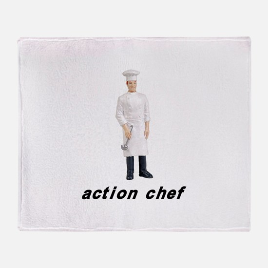Action Chef Throw Blanket