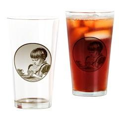 Child Saying Grace Drinking Glass