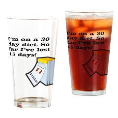 30 Day Diet Drinking Glass