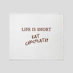 Eat Chocolate Throw Blanket