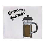 Express Yourself Throw Blanket