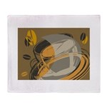 Abstract Coffee Shop Throw Blanket