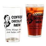 Coffee, Chocolate, Men Drinking Glass