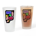Retro Coffee Break Drinking Glass