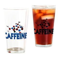Caffeine Molecule Drinking Glass