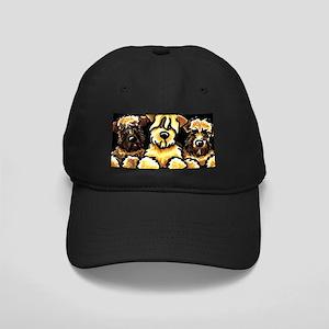 Wheaten Terrier Cartoon Black Cap