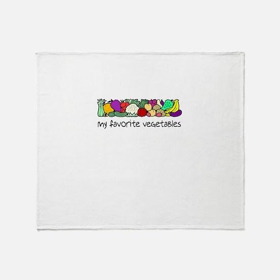 My Favorite Vegetables Throw Blanket