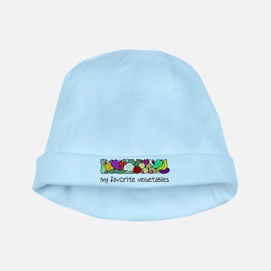 My Favorite Vegetables baby hat