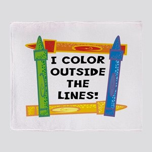 Color Outside The Lines Throw Blanket