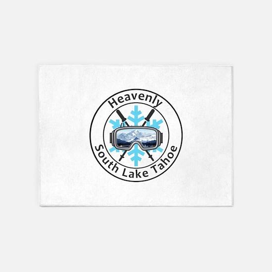 Heavenly Ski Resort - South Lake 5'x7'Area Rug
