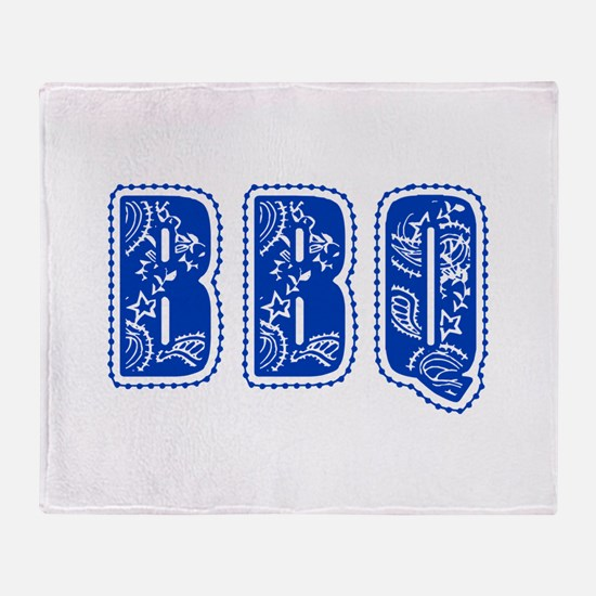 Red White & Blue BBQ Throw Blanket