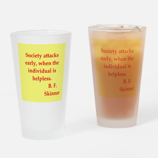 b f skinner quotes Drinking Glass