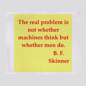 b f skinner quotes Throw Blanket