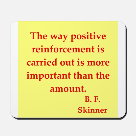 b f skinner quotes Mousepad
