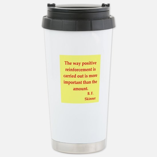 b f skinner quotes Stainless Steel Travel Mug