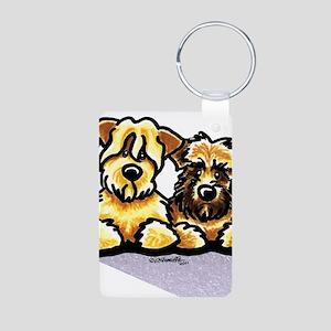 Wheaten Terrier Cartoon Aluminum Photo Keychain