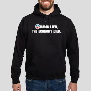 Obama Lied Hoodie (dark)