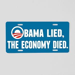 Obama Lied Aluminum License Plate