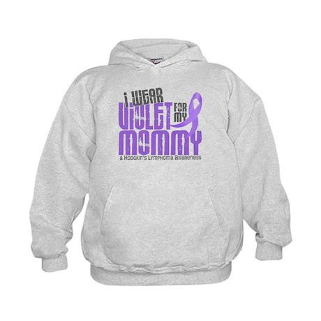 I Wear Violet 6 Hodgkin's Lymphoma Kids Hoodie
