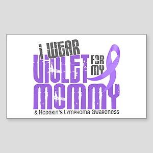I Wear Violet 6 Hodgkin's Lymphoma Sticker (Rectan