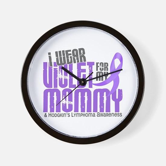 I Wear Violet 6 Hodgkin's Lymphoma Wall Clock
