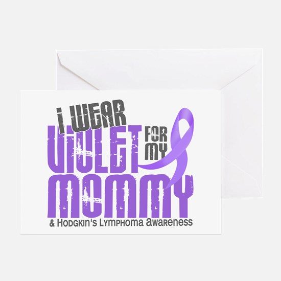 I Wear Violet 6 Hodgkin's Lymphoma Greeting Card